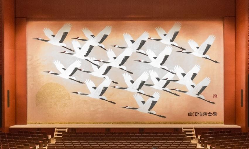 写真:大ホール緞帳