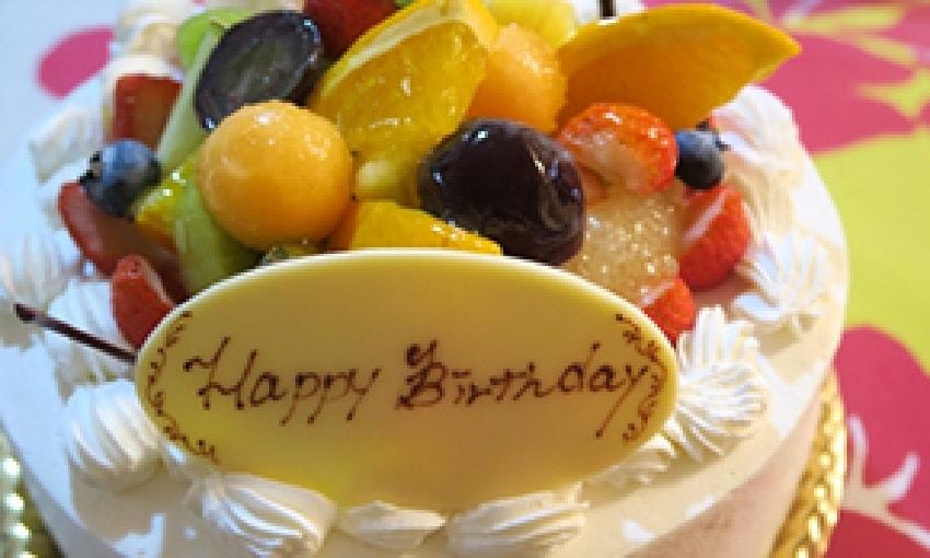 写真:バースデーケーキ