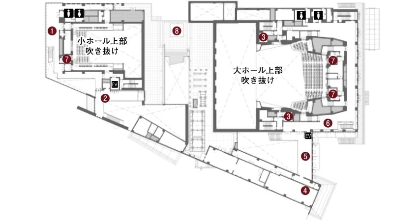 コミネス2階の平面図