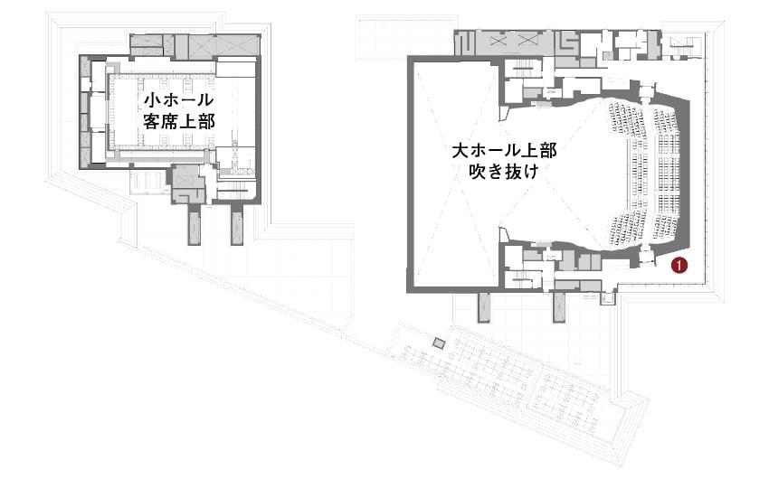コミネス3階の平面図
